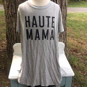 Haute mama gray  graphic tee sz lg